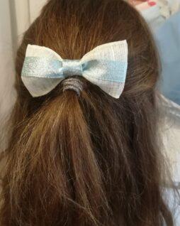 Peigne noeud blanc et argent