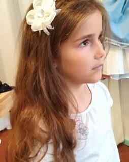 Serre-tête fleur blanche