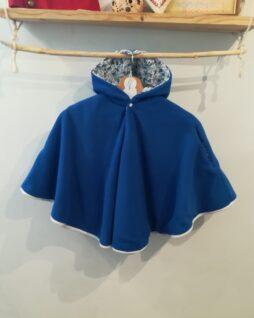 Poncho Esprit Liberty bleu T. 0/4 ans