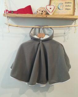 Poncho Classique gris T. 0/4 ans